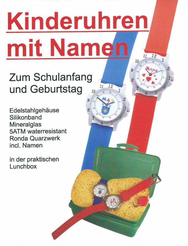 Werbeplatz Uhrmachermeister Frieder Nitzsche – Kinderuhren mit Namen