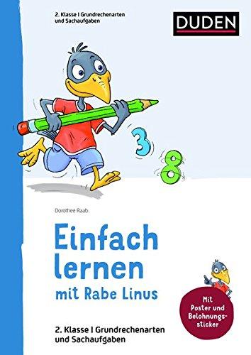 Rezension: Linus Mathematik 2. Klasse: Mit Stickern zur Belohnung. Kleinschrittige und leicht verständliche Übungen. (Einfach lernen mit Rabe Linus)