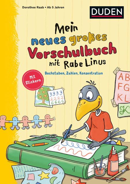 Rezension: Mein neues großes Vorschulbuch mit Rabe Linus: Buchstaben, Zahlen, Konzentration