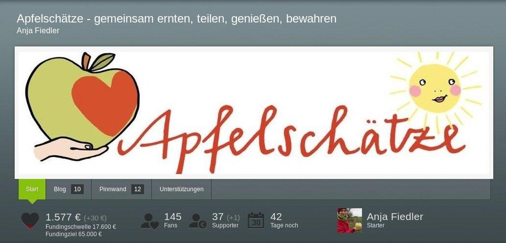 Crowdfunding Apfelschätze