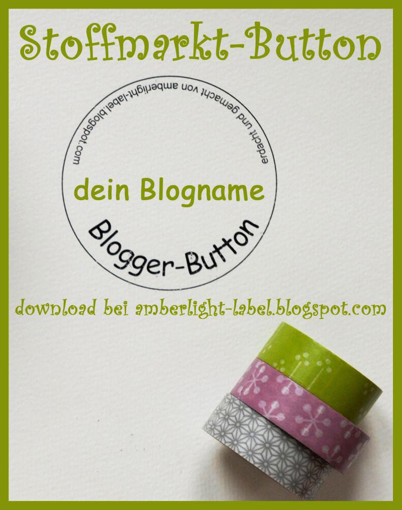 Stoffmarkt-Vorbereitungen & Blogger-Button