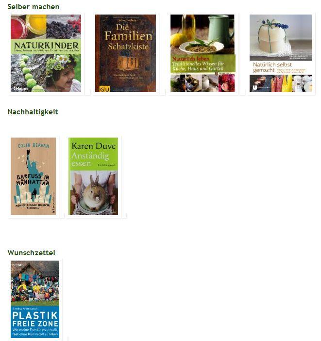 Bücherregal: Grüner Faden