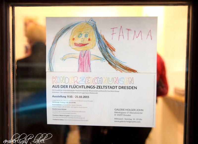 Kinderzeichnungen aus der Flüchtlings-Zeltstadt Dresden und #tankman