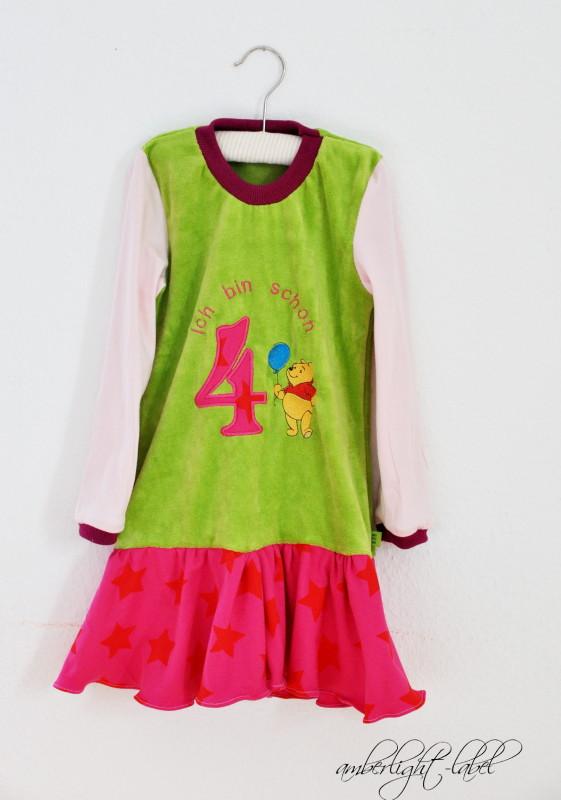 4. Geburtstag: Geburtstagskleid, Gr. 110