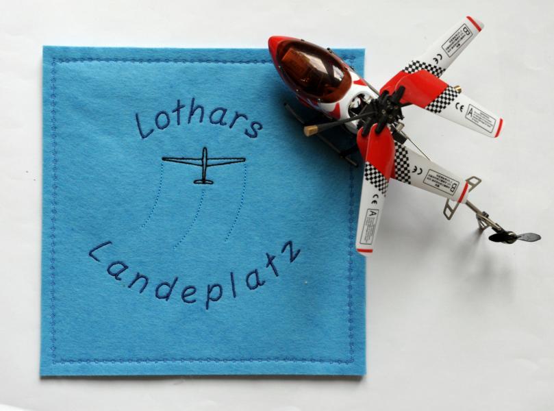 Männergeschenk: Hubschrauber Landeplatz