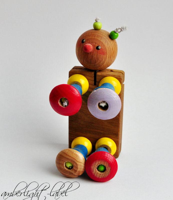Geschenk zur Geburt DIY Holzgliederpuppe