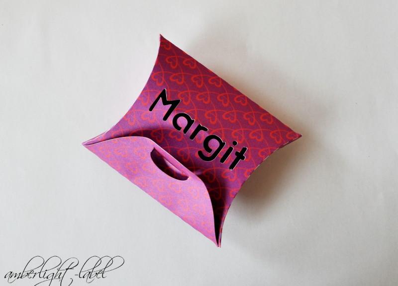 Geburtstagsgeschenk Plotter personalisierte Pillowbox