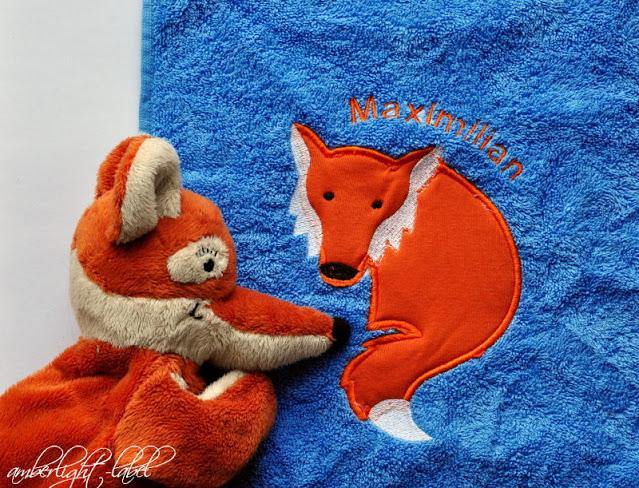 Geschenk Kindergeburtstag Fuchs Handtuch