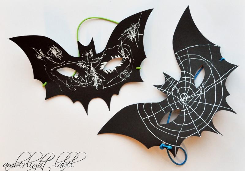 Halloween: Maske Fledermaus