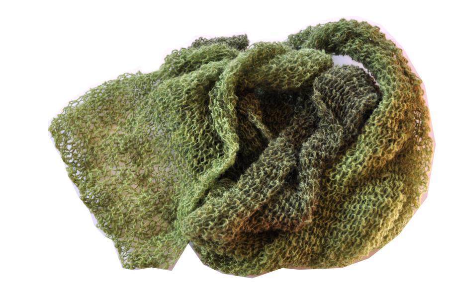 Schal aus Gotlandwolle