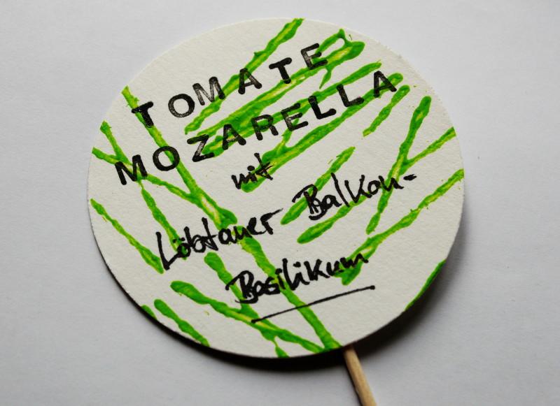 Party-Deko Buffet-Schildchen: Tomate-Mozarella