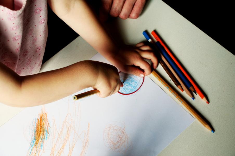 Kinderkunst: Wolken malen