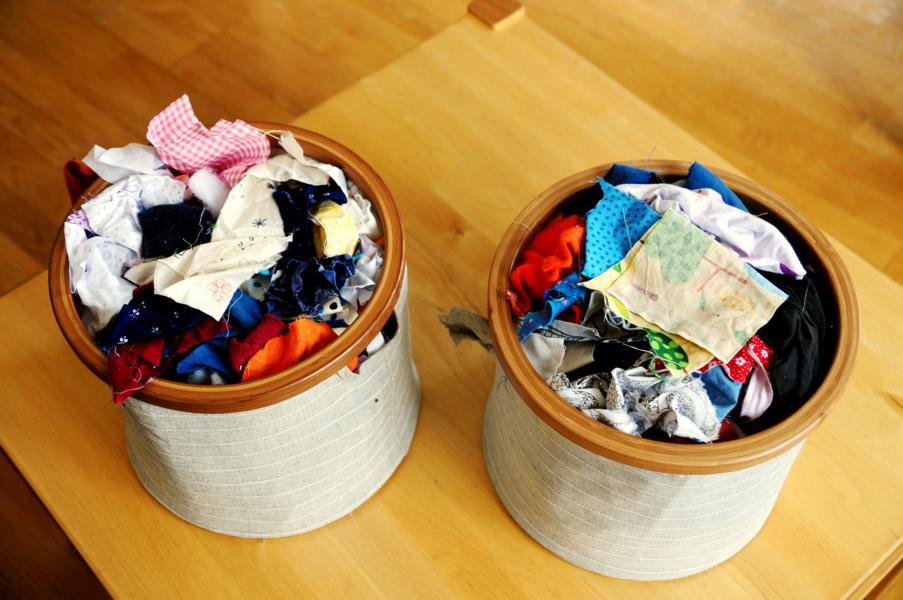 Tchibo: Scrap-Stoffschnipsel-Aufbewahrung