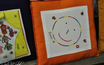Abschiedsgeschenk Kindergarten Kinderkissen Kissen