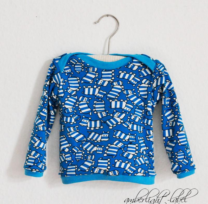 Nilpferd-Shirt, Gr. 74