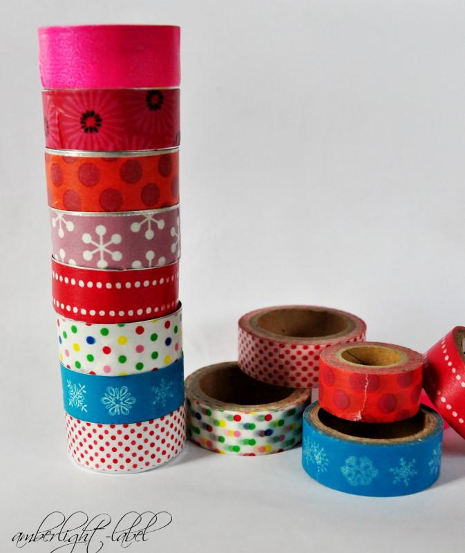 Partydeko: Masking Tape Teelichter & Apfelrosen