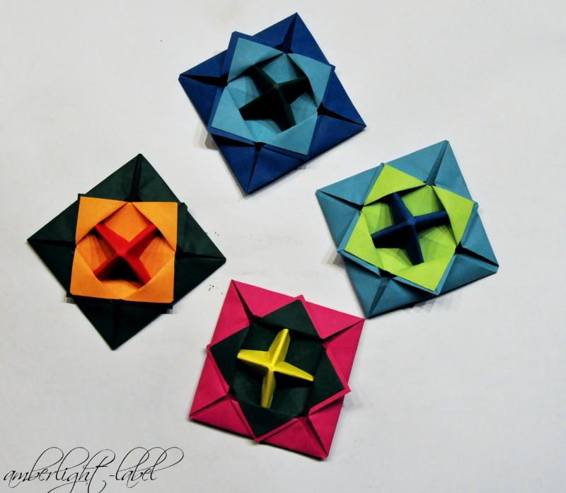 Kindergeburtstag: Anleitung Papierkreisel falten Makotokoma Spinning Top Origami #amberlightsPapierkreisellinkup