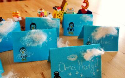 3. Geburtstag: Pinguin Geburtstag Tischkarten Bananenpinguine