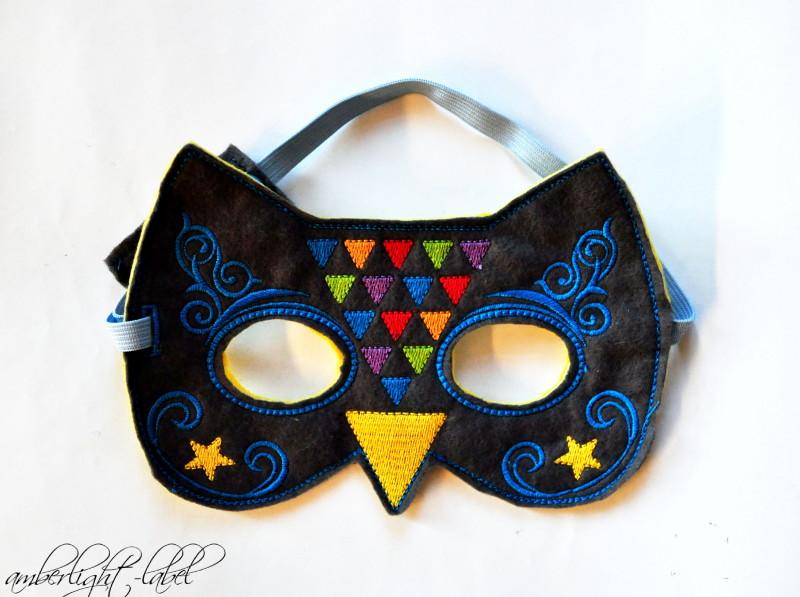 Fasching Eule Maske