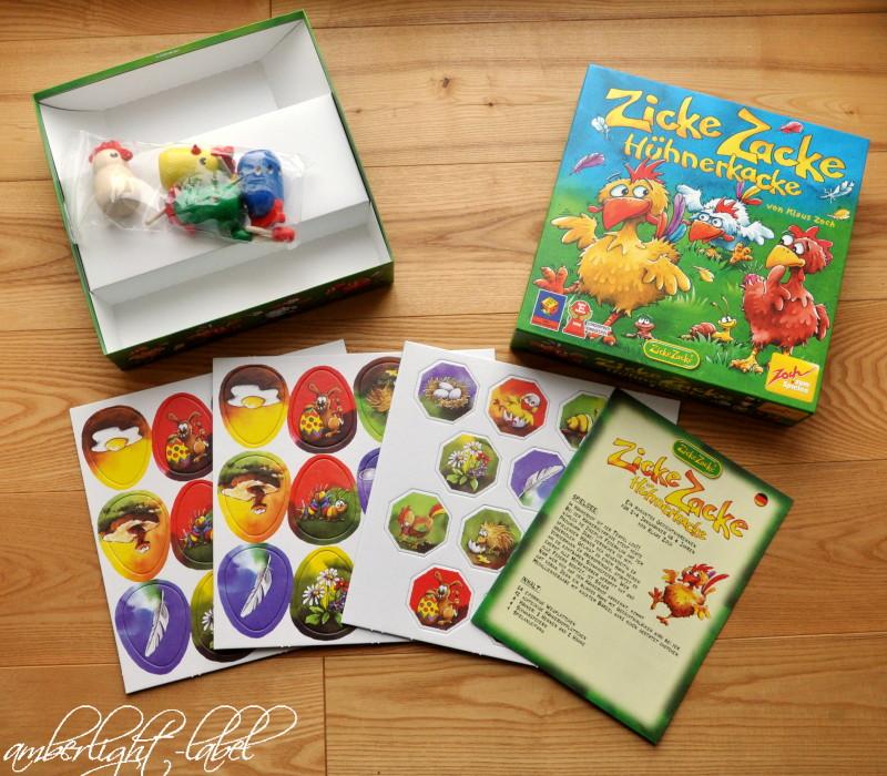 Spielzeugrezension: Zicke Zacke Hühnerkacke von Noris