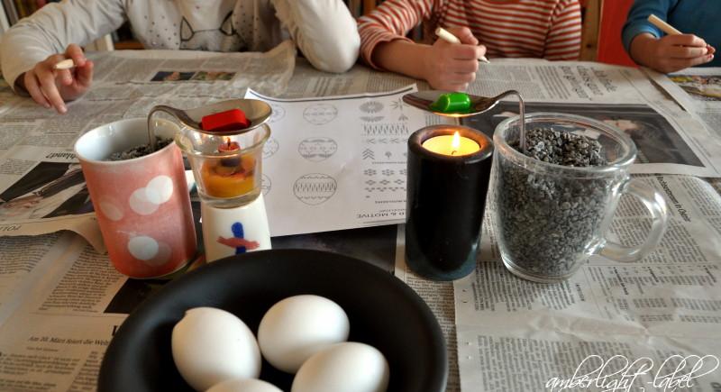 Ostereier Wachsbossiertechnik serbske jajo sorbische Ostereier