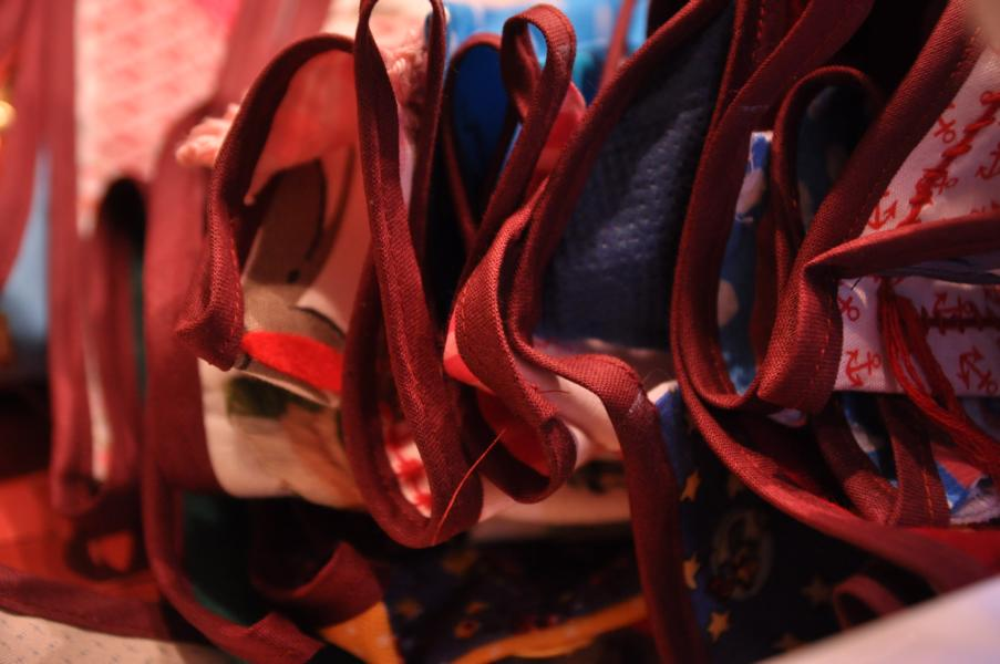Wimpelaktion: Wimpelkette – das Aufhängen
