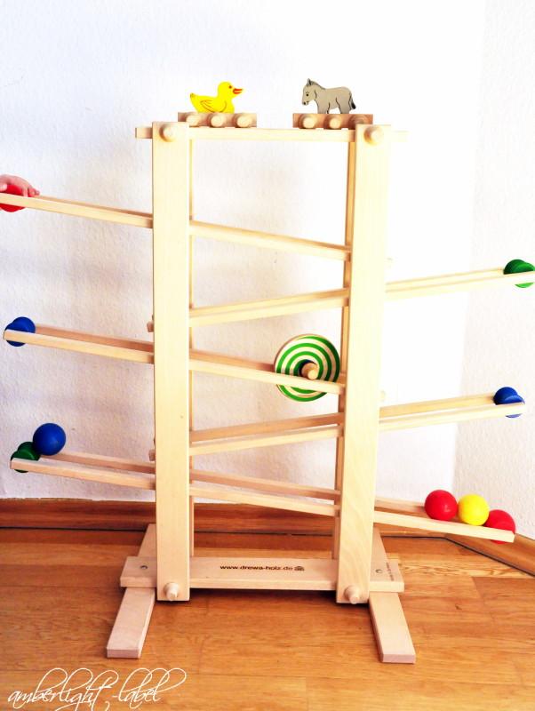 Holzspielzeug 1. Geburtstag: Drewa Kugelbahn