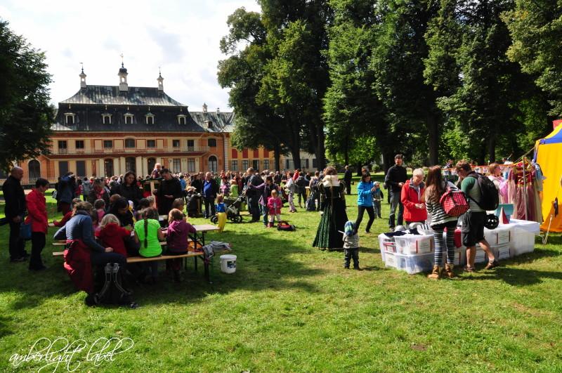 Historische Holzspiele zum Spielwochende in Pillnitz
