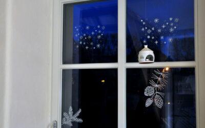 Weihnachtsgeschenk Kreidemarker Fensterbilder