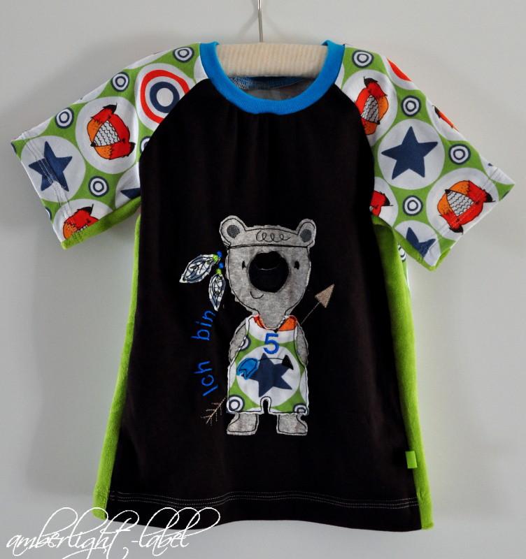 5. Geburtstag Geburtstagsshirt Bärenshirt Shirt Panda Ottobre 3/2016 Gr. 116