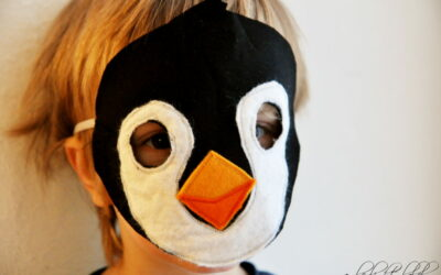 Faschingskostüm Pinguin Maske