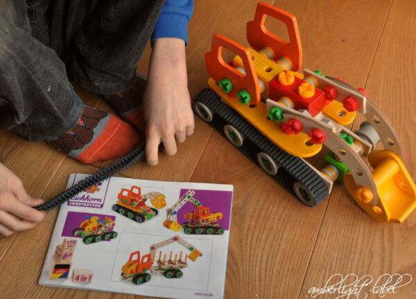 Spiel(zeug)rezension: Constructor Raupenbagger 170teilig & Freebie Spielzeugidee