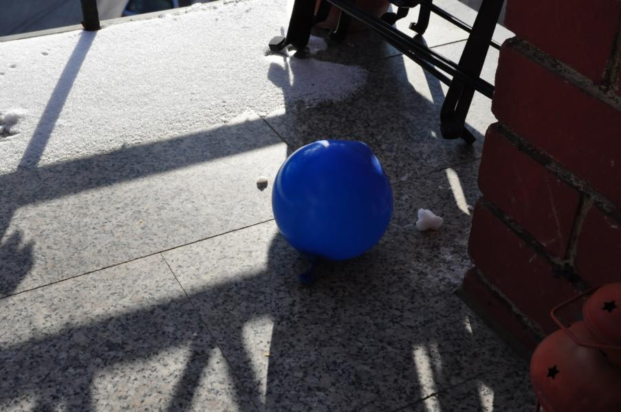 DIY-Unfall: Eiskugeln
