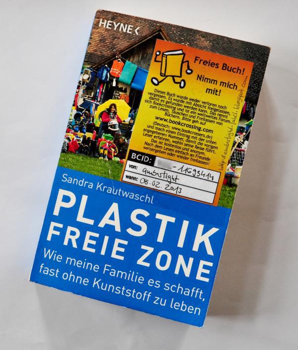 Bookcrossing-Buch Plastik freie Zone