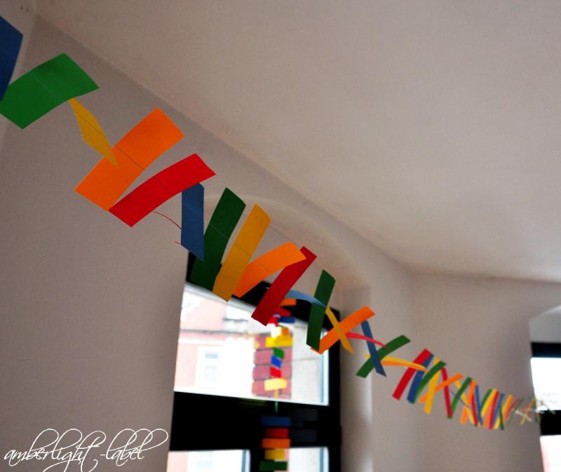 5. Geburtstag: Deko Papiergirlande & Spiele