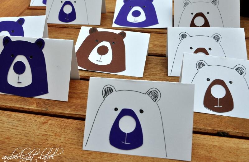5. Geburtstag Bären Tischkärtchen