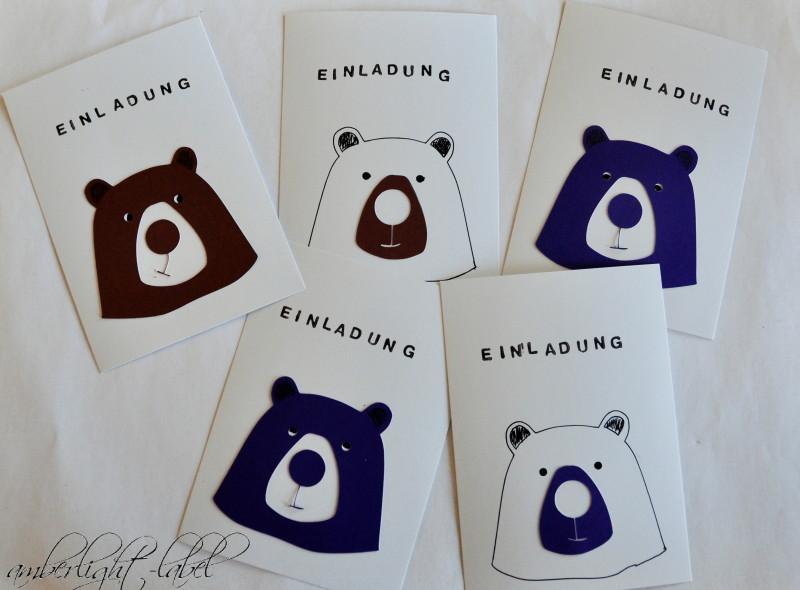 5. Geburtstag Kindergeburtstag Einladungen Bären