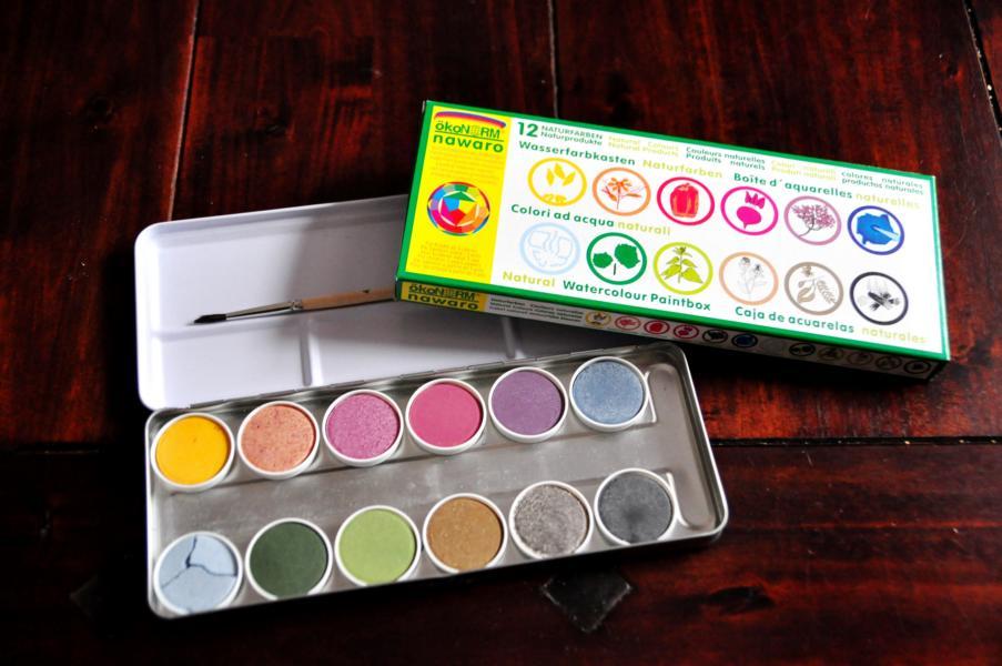 Naturfarben: Ökonorm Wasserfarbenkasten & Gutschein