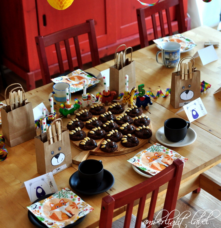 5. Geburtstag: Kindergeburtstag Bären Feier