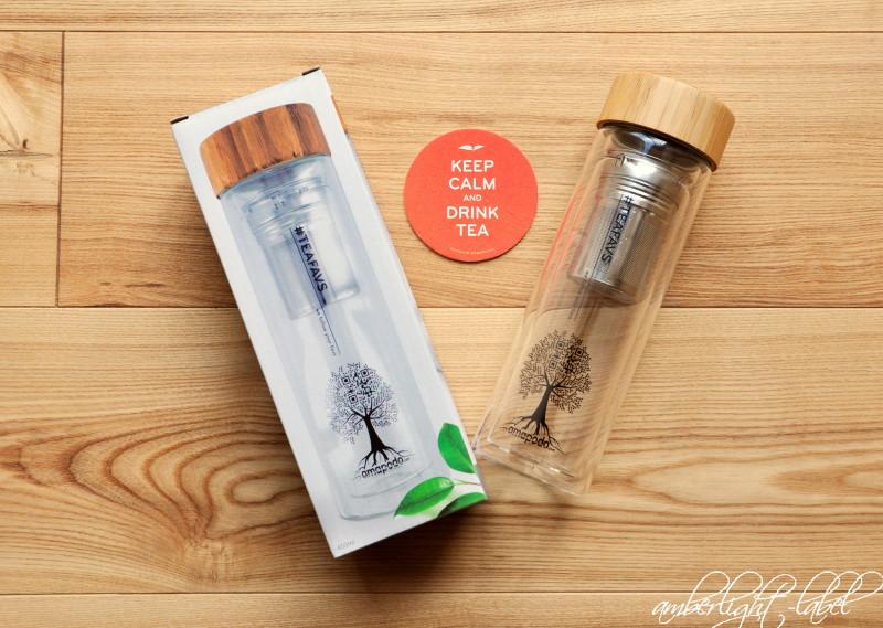Teeglas Glasflasche von Amapodo #teafavs