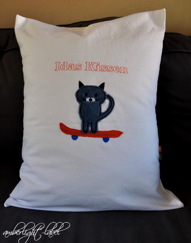 Kindergeburtstagsgeschenk Skateboard Katze
