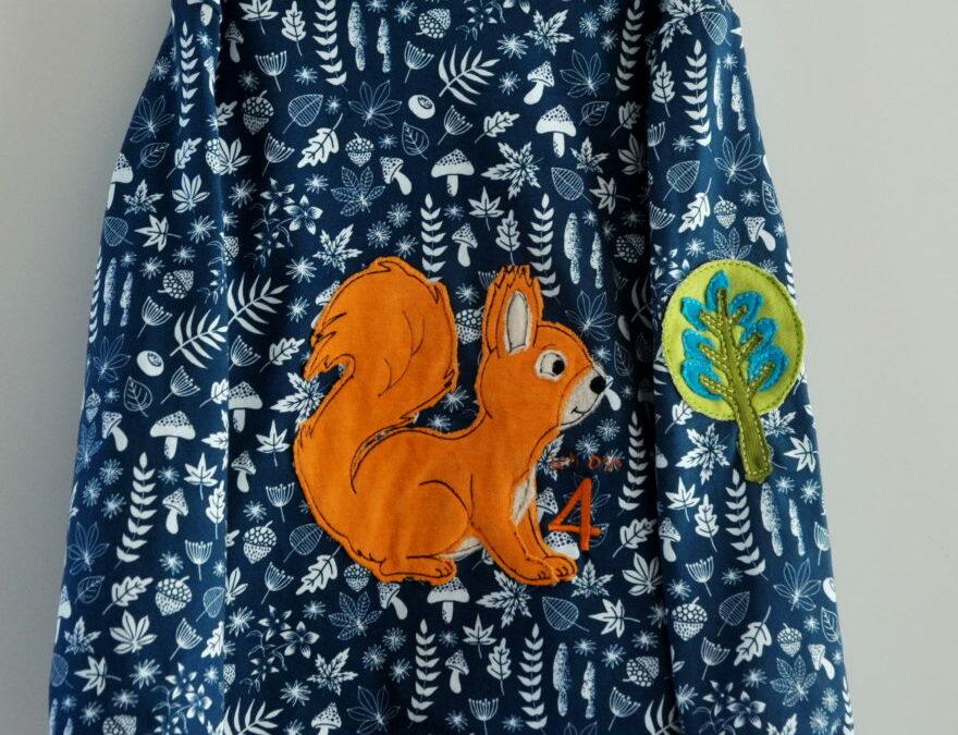 4. Geburtstag Geburtstagsshirt Eichhörnchenshirt Ottobre 4/2020 Sweatshirt Rabbit and Raccoon Gr. 104 2021 Pattern Parade Oktober