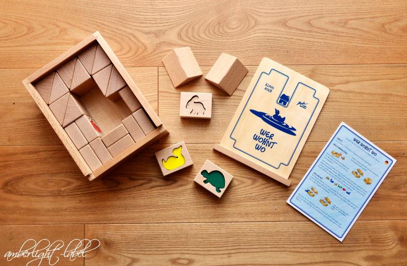 Spiel(zeug)rezension: Holzspielzeug Wer wohnt wo von Noris