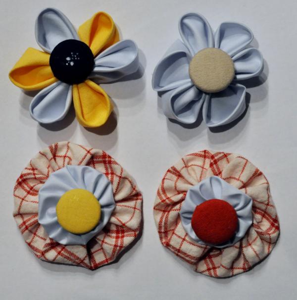Craft-it-forward No. 5 – Kanzashi-Blüten & Stoffrosette