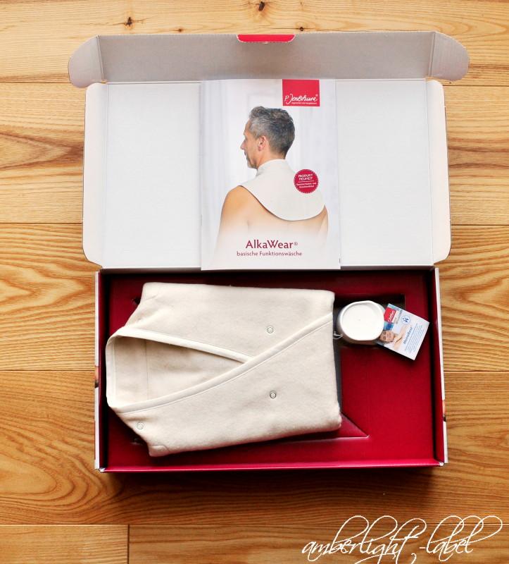 Werbung: Basischer Nacken- und BronchienWickel von P. Jentschura AlkaWear