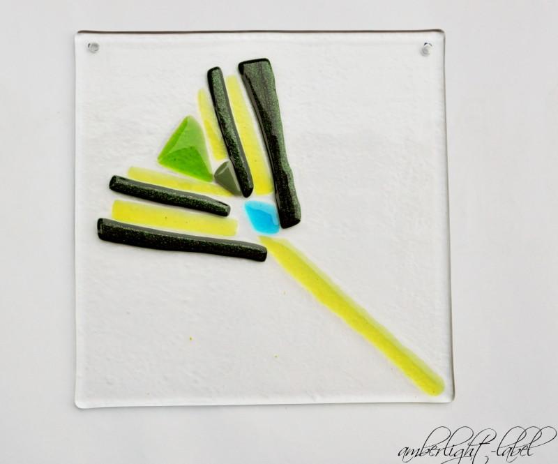 Fusing: Ginkgo Glas Platte