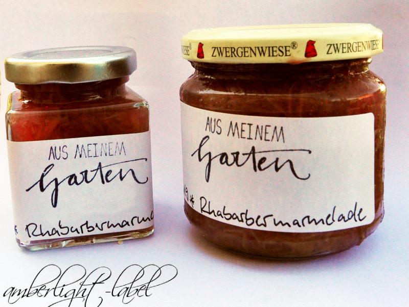 Etiketten Rhabarbermarmelade