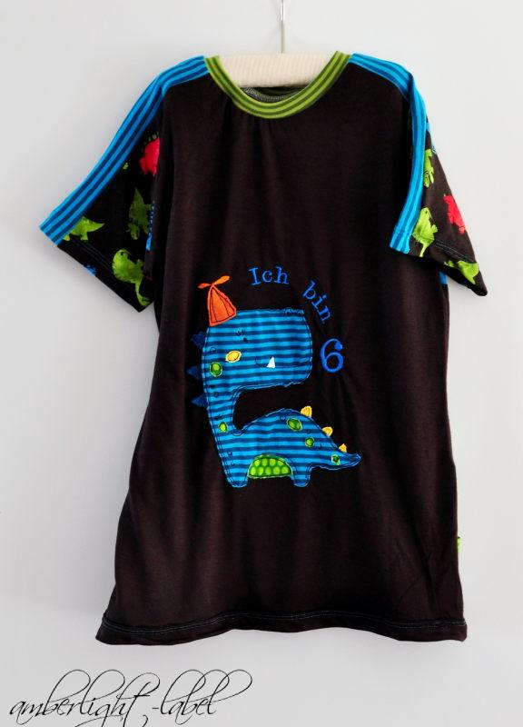 6. Geburtstag Geburtstagsshirt Dinoshirt Shirt-n-short von Muhküfchen Gr. 122