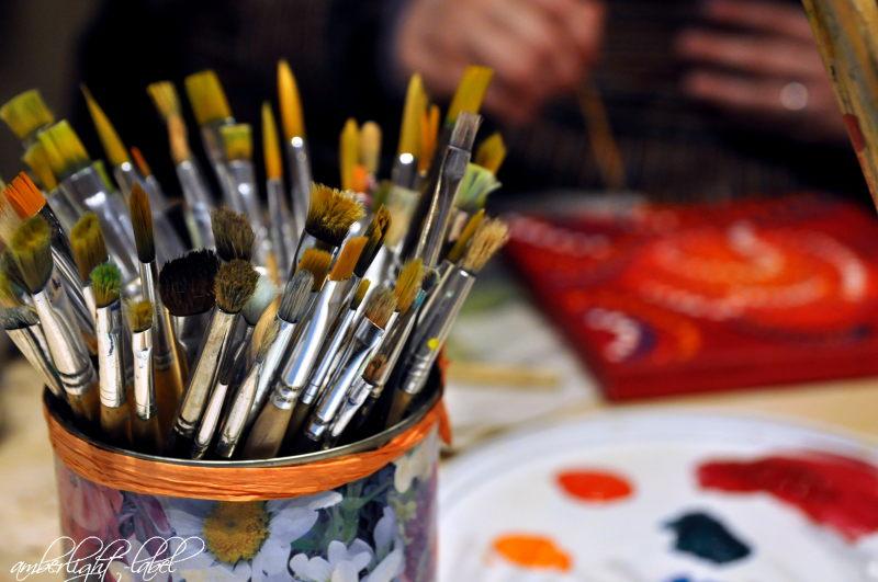 Kreativkurs Dot-Paintung Punktmalerei bei Antje Seewald