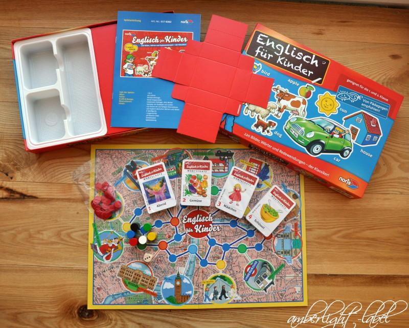 Spiel(zeug)rezension: Noris Spiele – Englisch für Kinder 1. und 2. Klasse